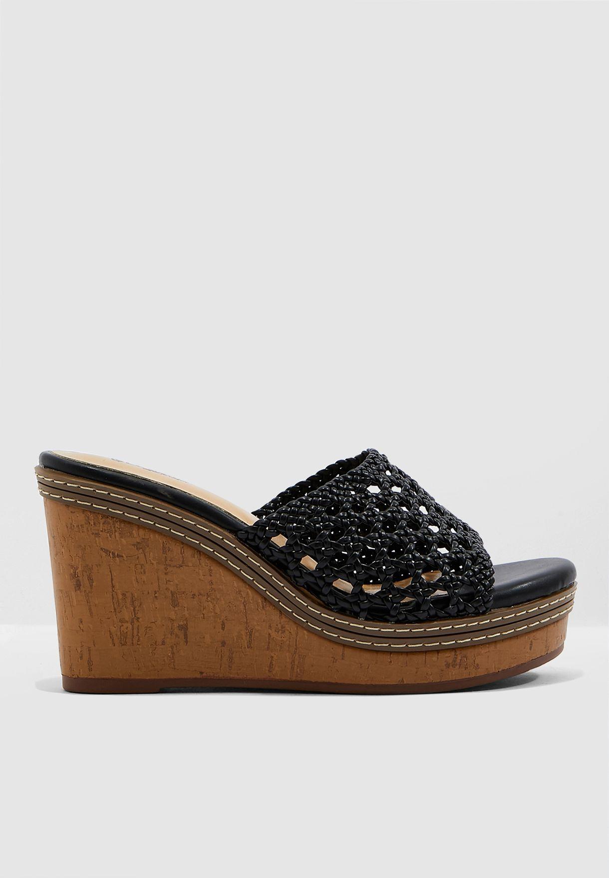 81d058f5ffd7 Shop Le Confort black Laser Cut Sandal - Black B4210 for Women in ...