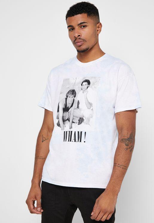 Wham Tie Dye Crew Neck T-Shirt