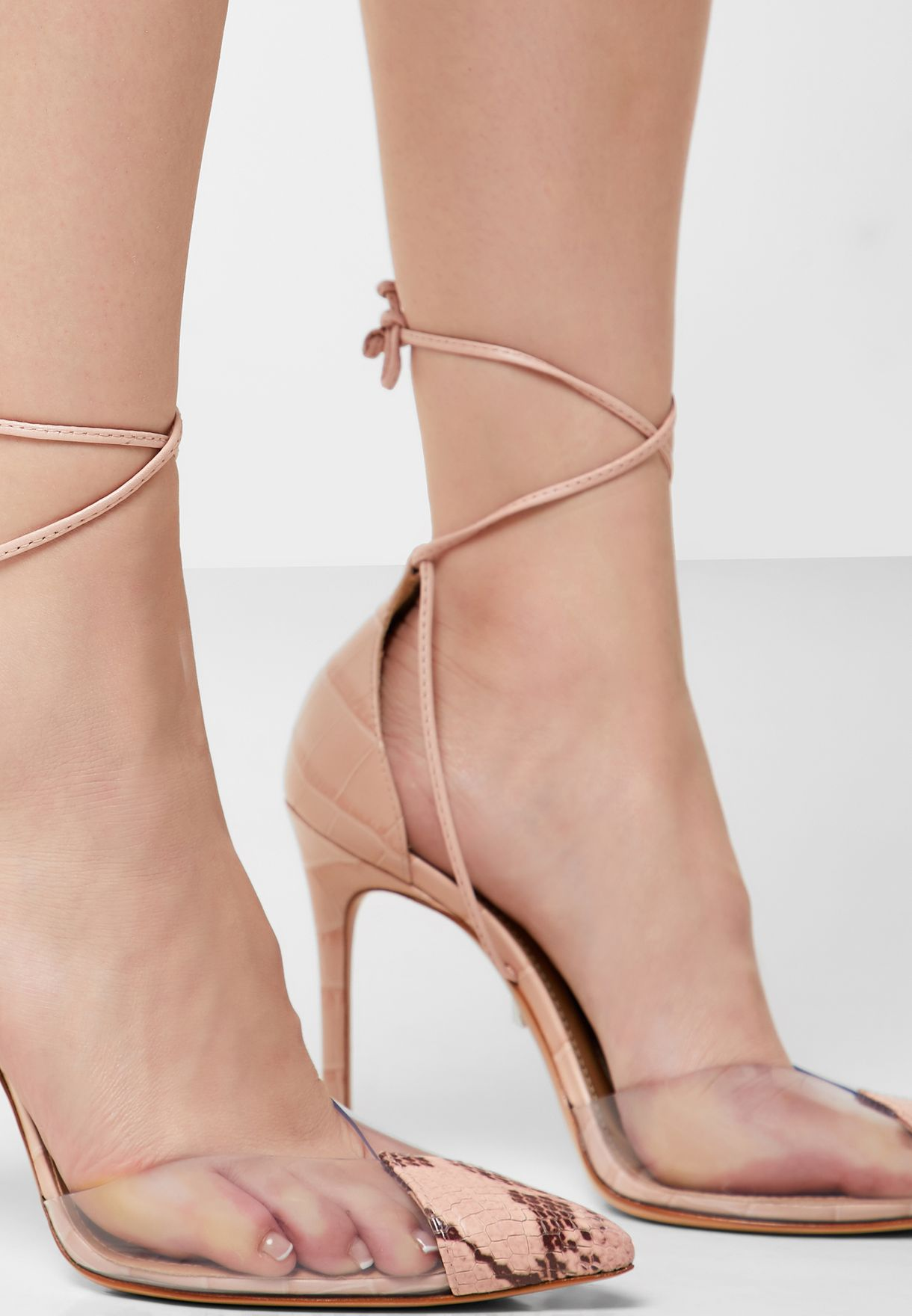 Ankle Strap Bow Pump