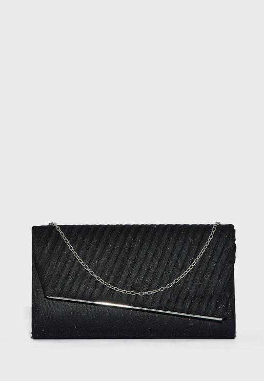 Shimmer Fabric Clutch Bag