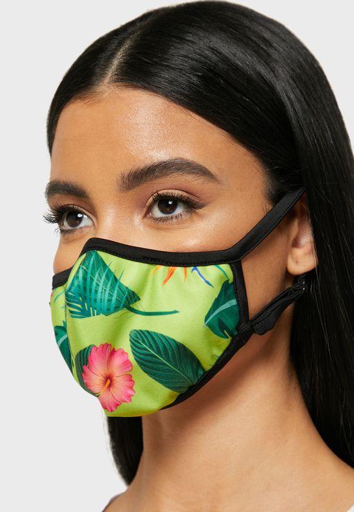 Tropical Print Mask