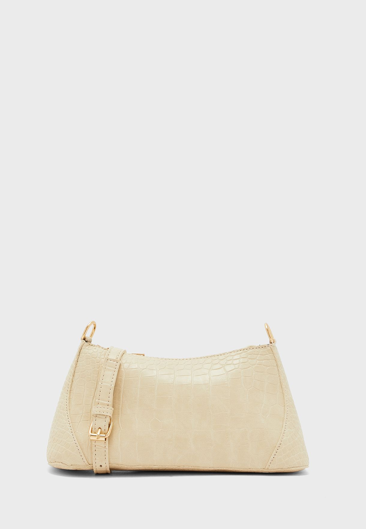 Croc Baguette Shoulder Bag
