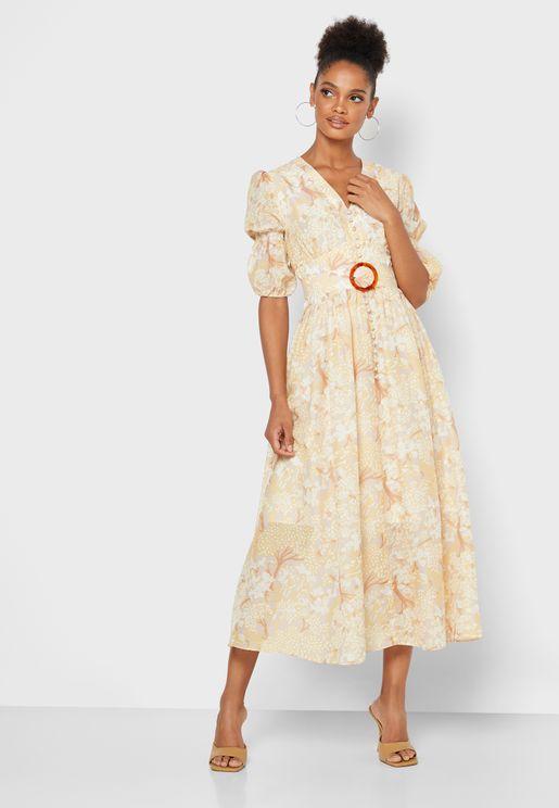 فستان مطبع عصري