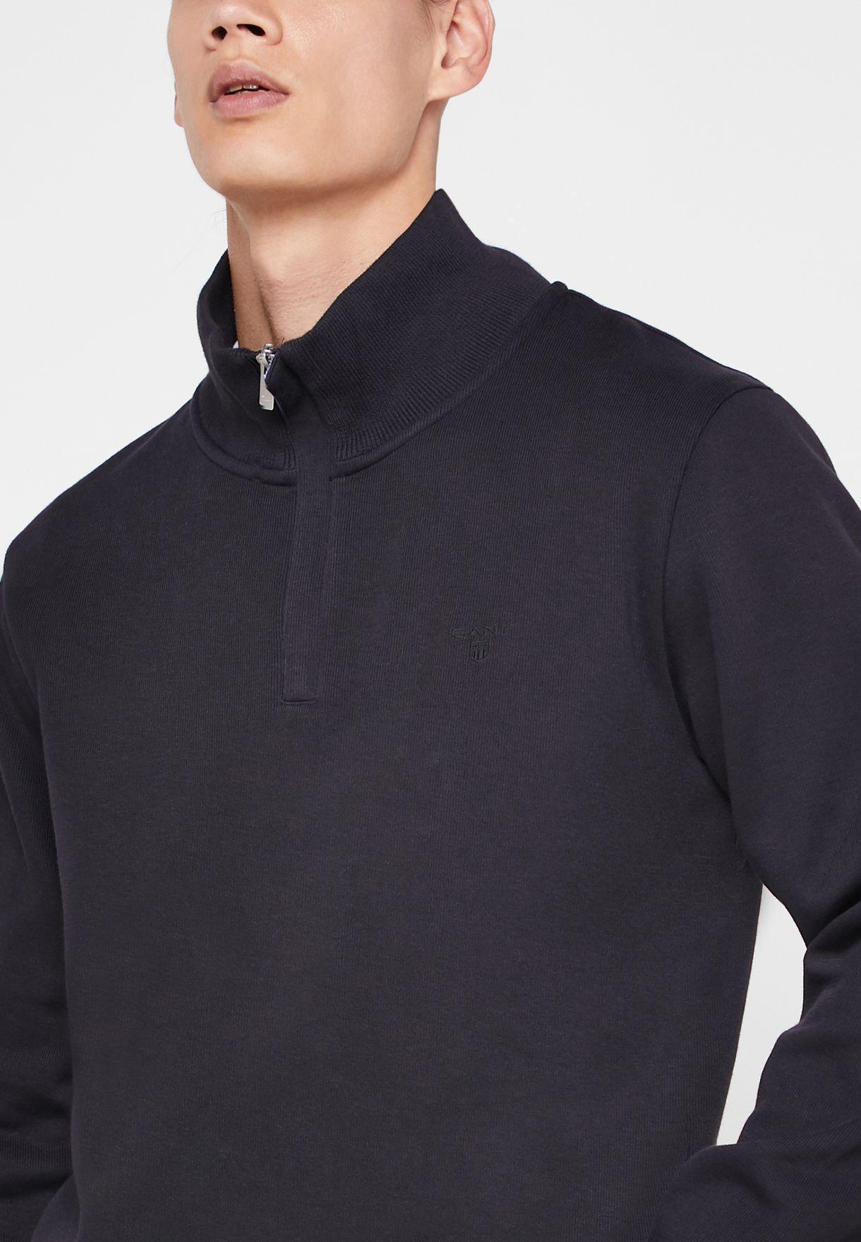 Sacker Ribbed Half Zip Sweatshirt