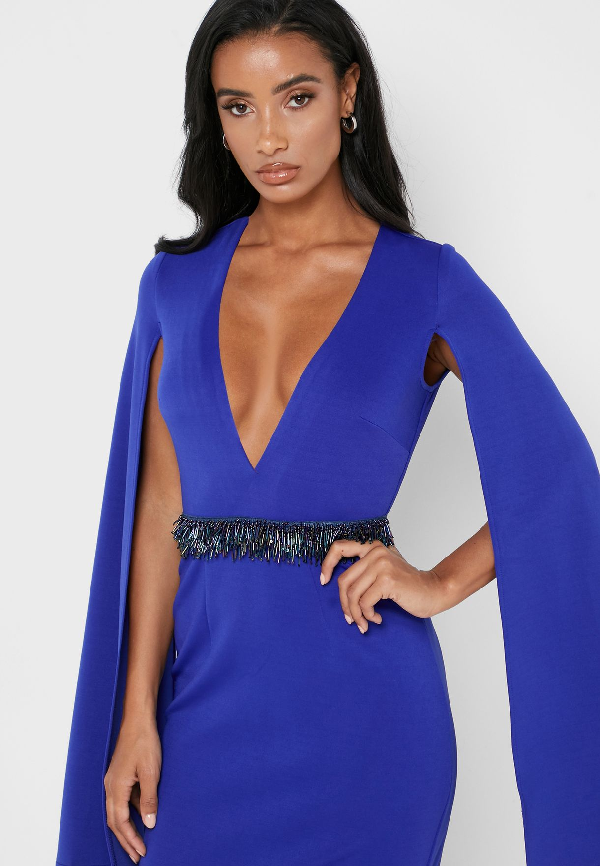 Split Sleeve Bodycon Dress