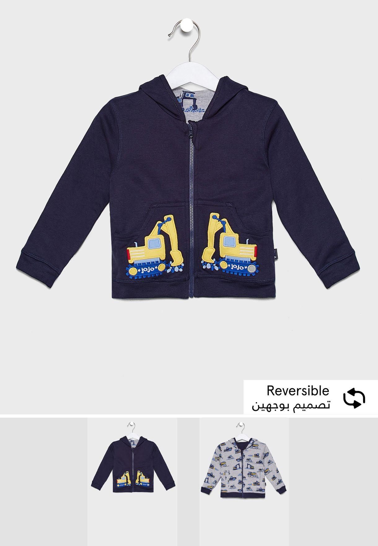 Kids Digger Reversible Hoodie