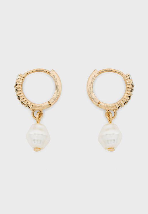 Party Luxe Huggie Drop Earrings