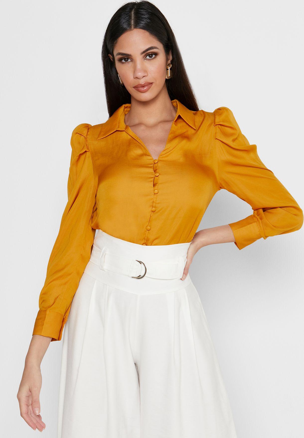 قميص بنمط مجعد