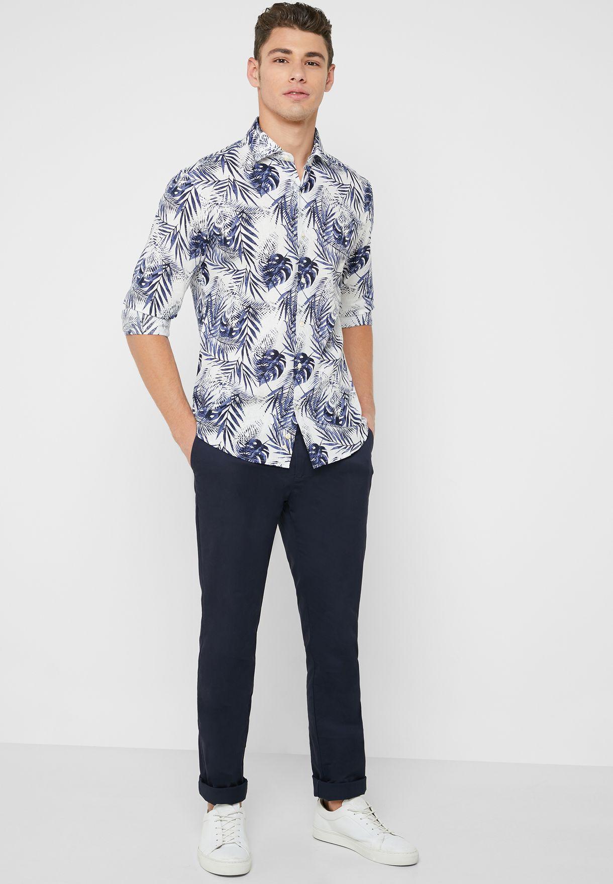 Leaf AOP Slim Fit Shirt