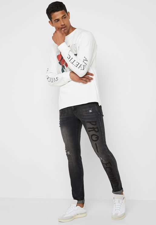 Mid Washed Skinny Fit Jeans