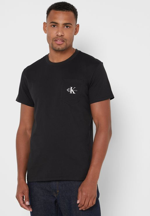 Monogram Pocket Crew Neck T-Shirt