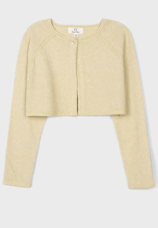 Kids Cropped Cardigan