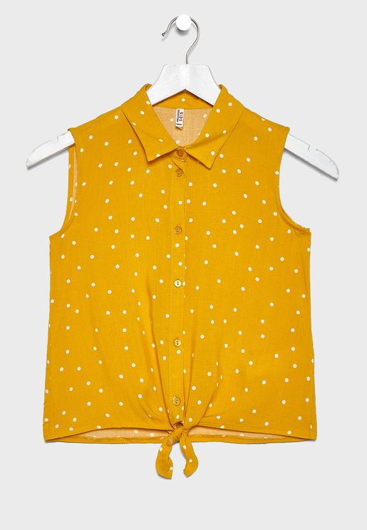 Kids Front Knot Shirt