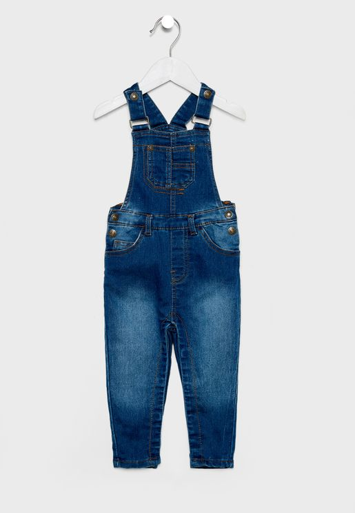 Kids Front Pocket Denim Dungaree