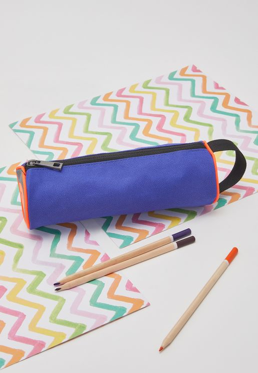 Kids Color Block Pencil Case
