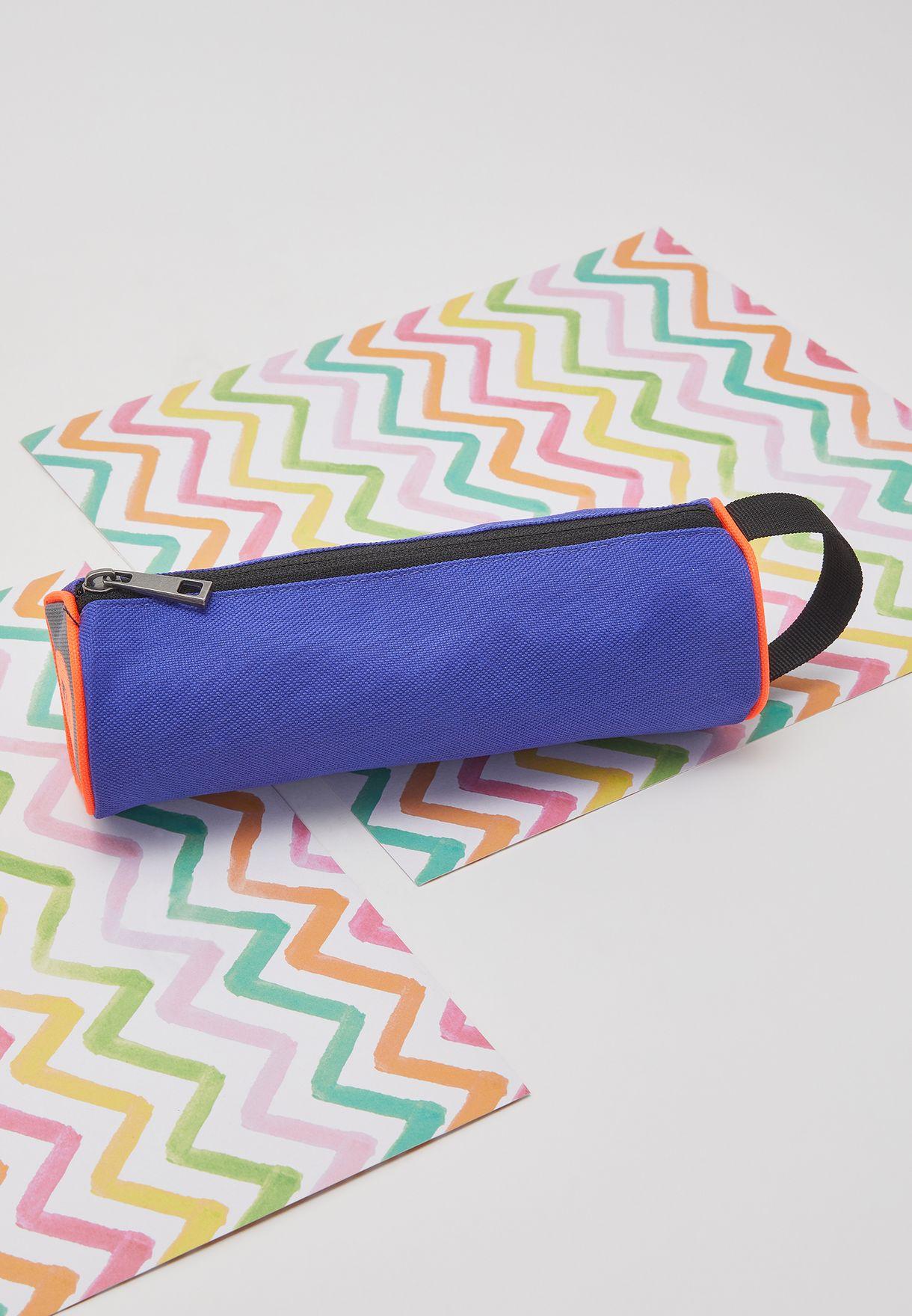 Kids Color Block Pencil Case