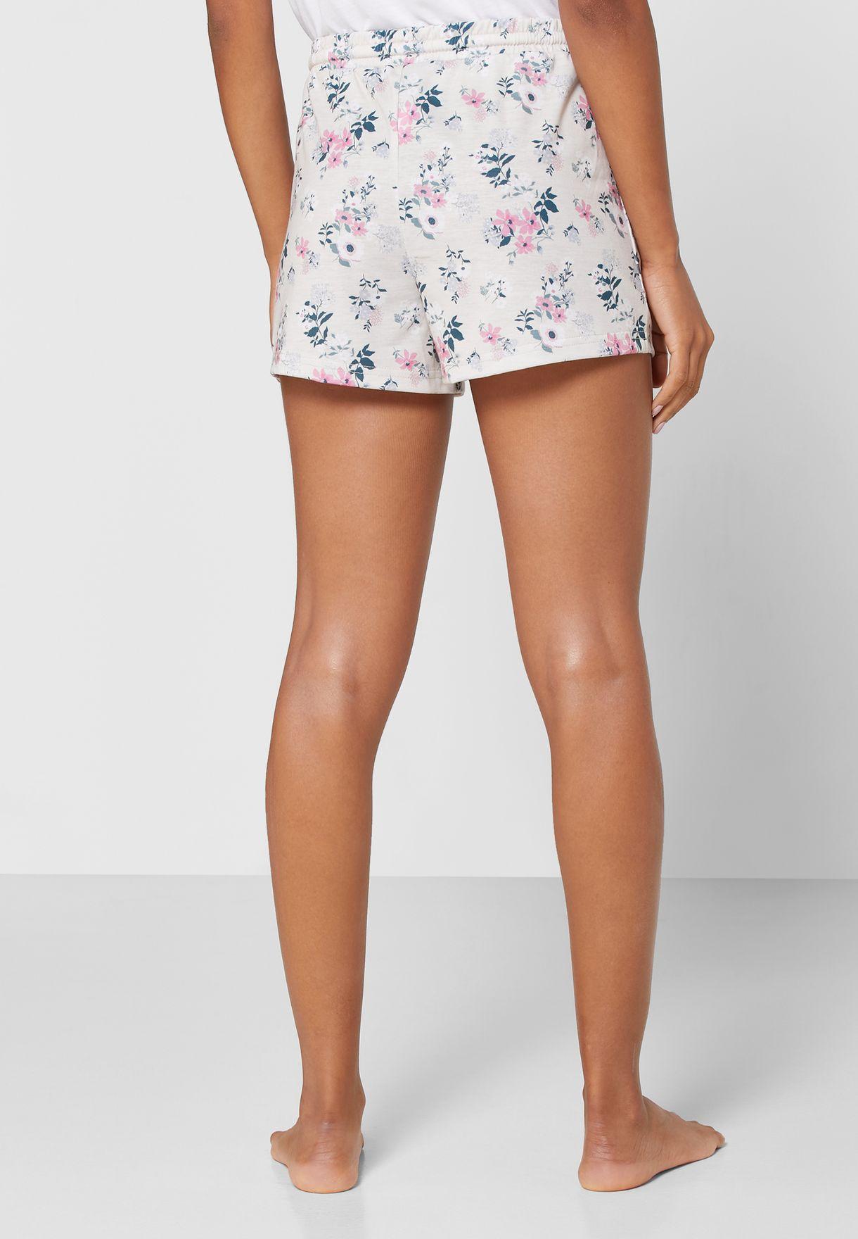 2 In 1 Printed Pyjama Shorts