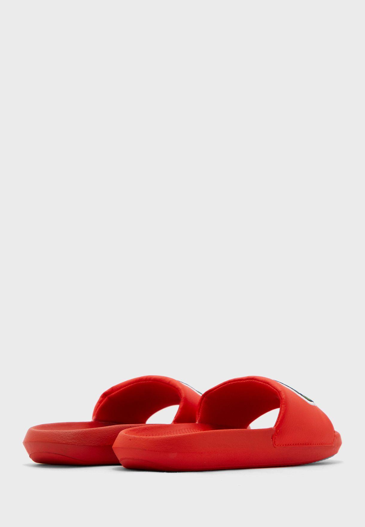 Croco Single Strap Sandal
