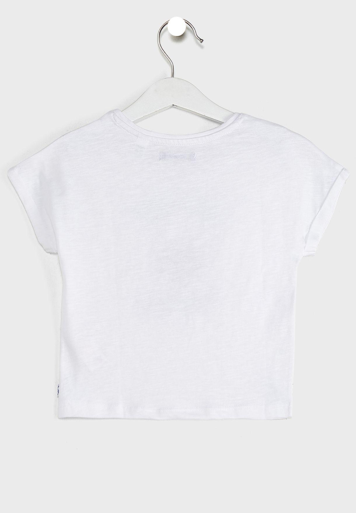 Kids Heart Print T-Shirt