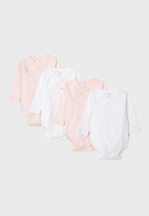 Infant 4 Pack Essential Bodysuit