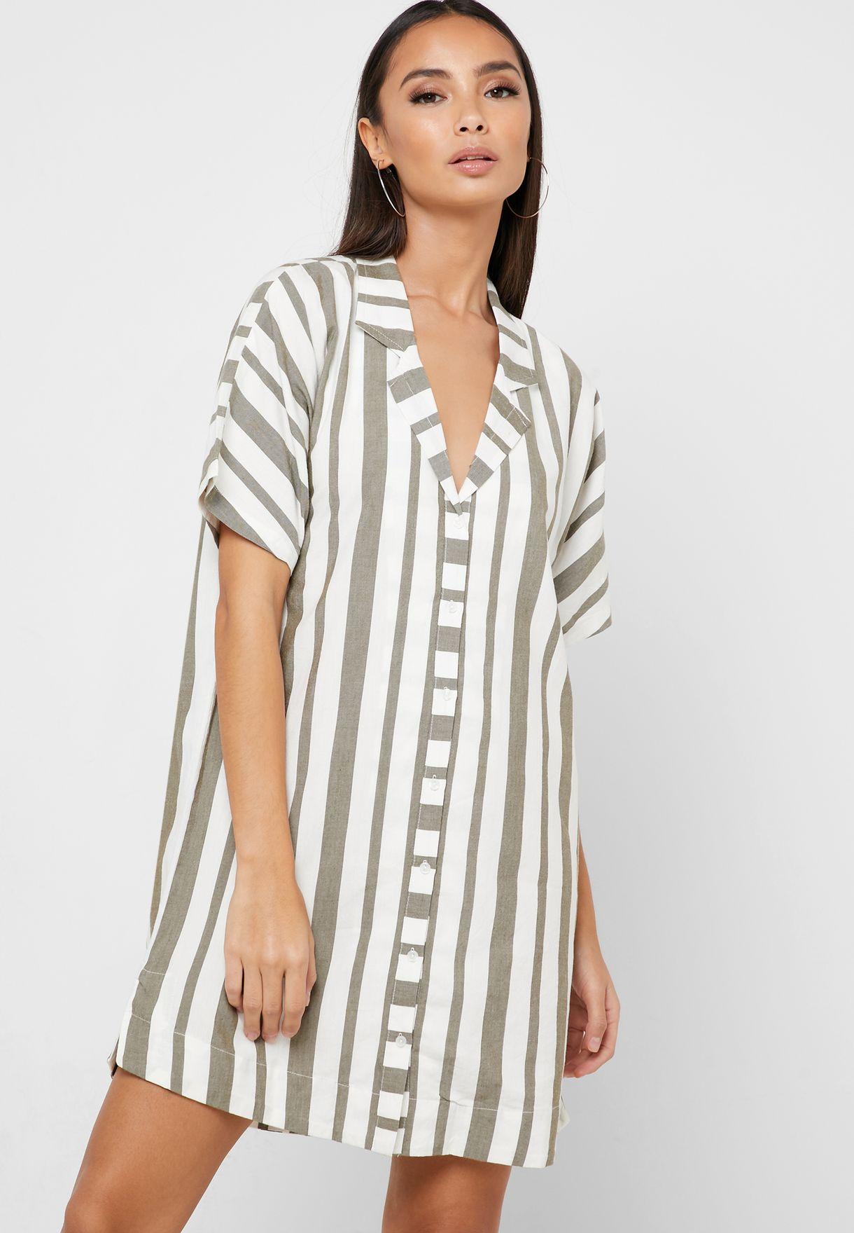 Storm Striped Dress
