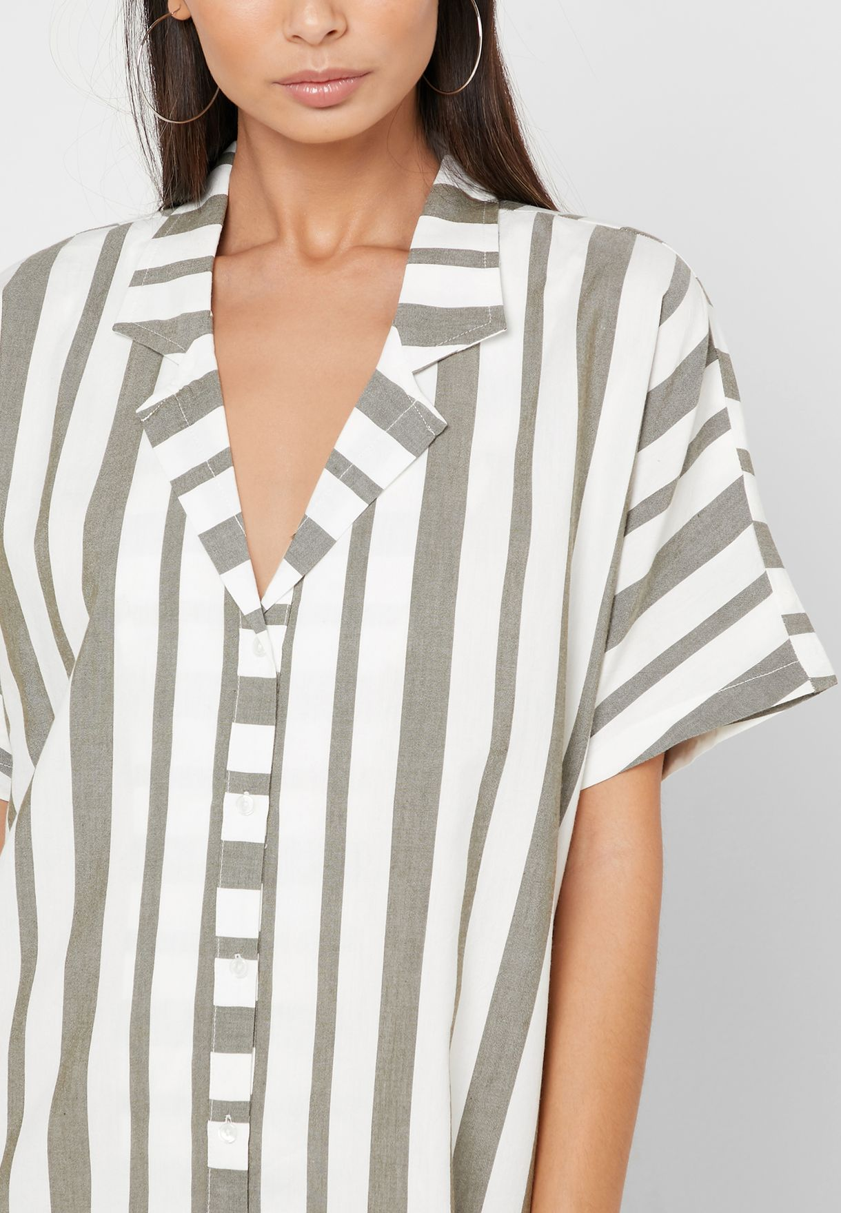 Rvca Storm Striped Dress - Fashion