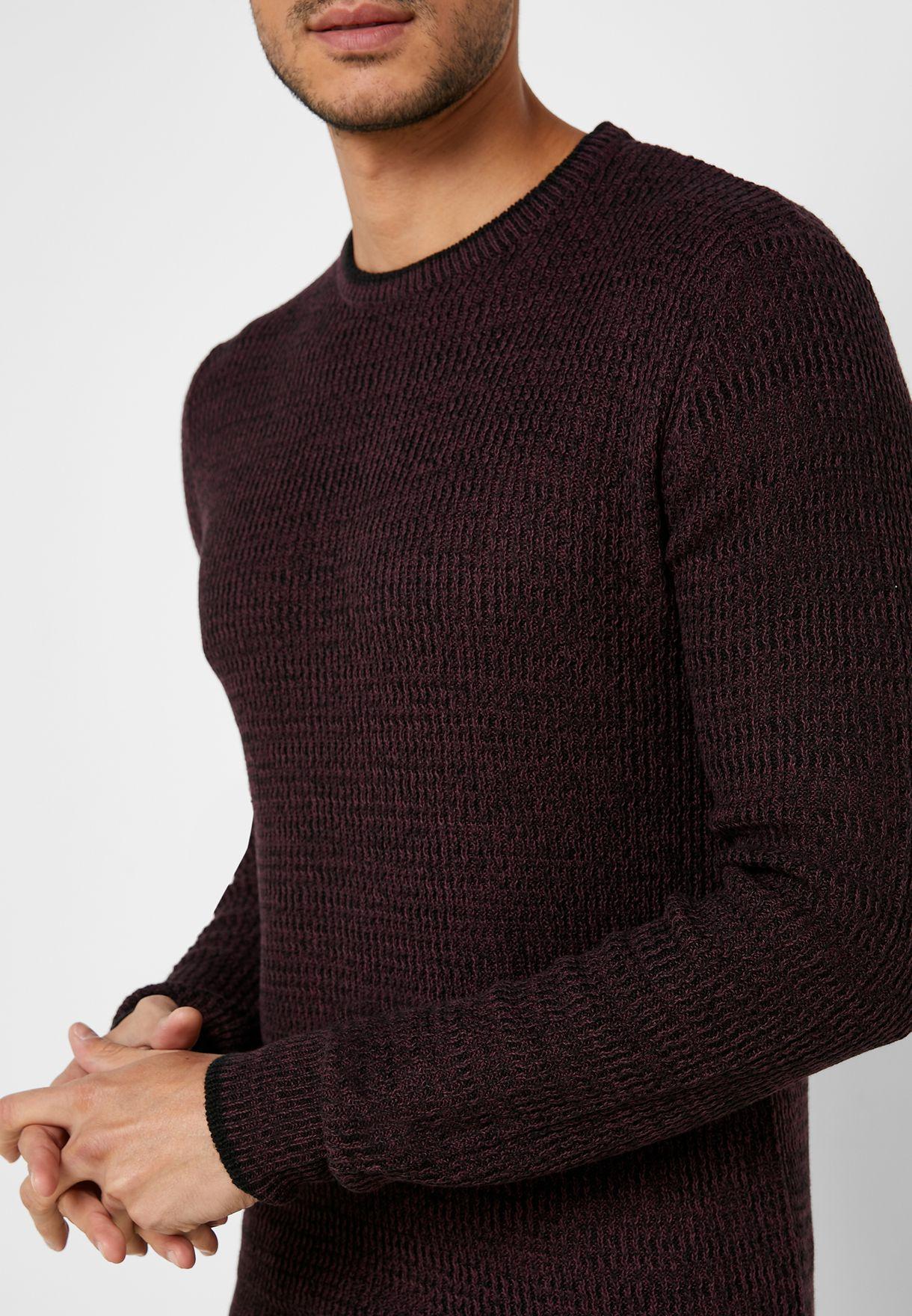 Texture Crew Neck Knit