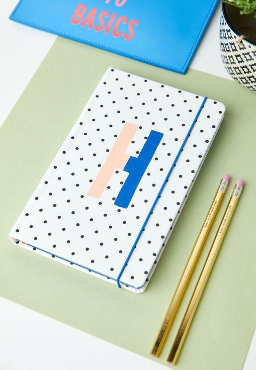 Take Note Large Monogram Notebook - H