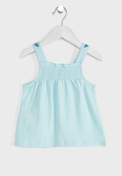 Jersey Top With Smocks