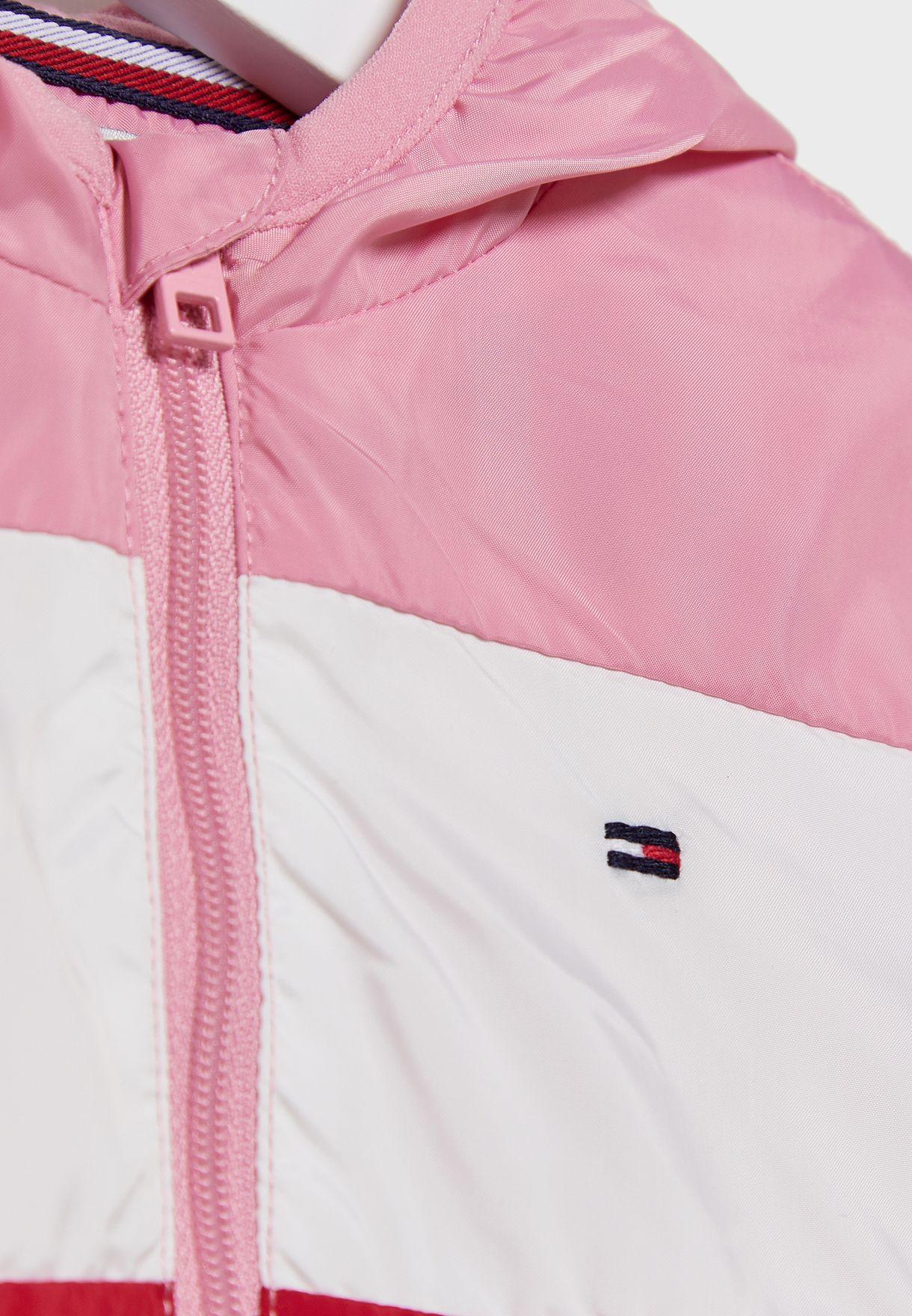 Infant Color Block Hooded Jacket