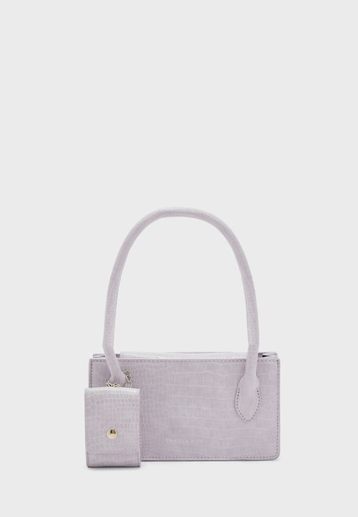 Croc Shoulder Bag with Airpods Case