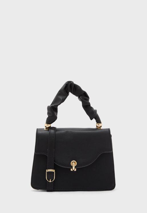 Ruched Handle Handbag