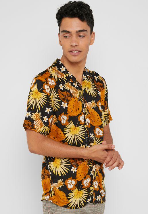 قميص كلاسيكي مطبع