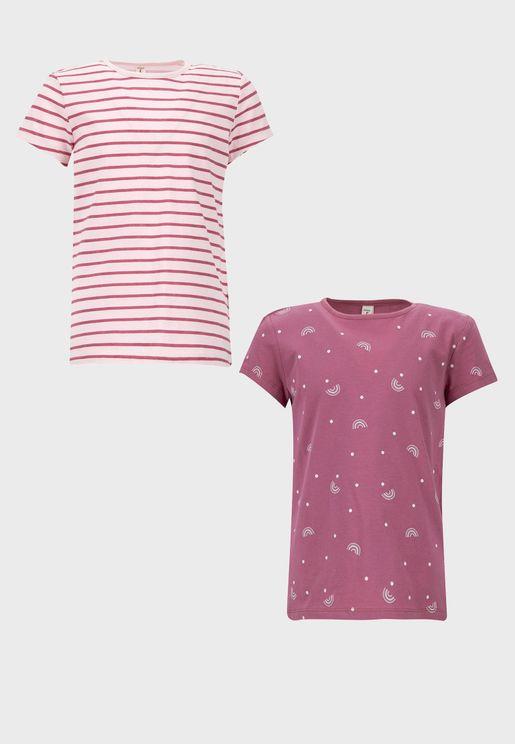 2 Pack Kids Printed T-Shirt