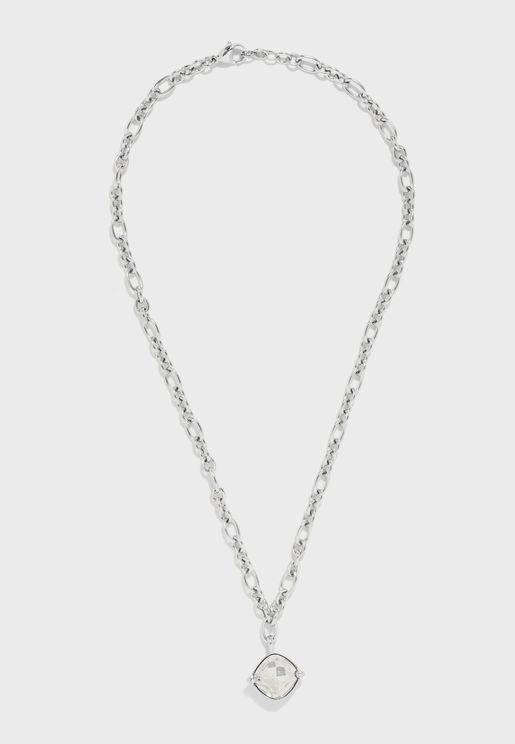 Chain And Stone Pendant Necklace