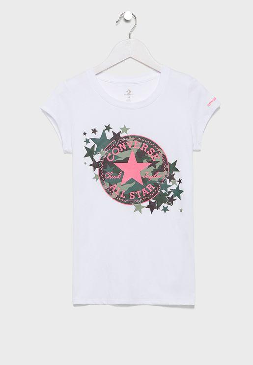 Youth Chuck Patch Camo T-Shirt