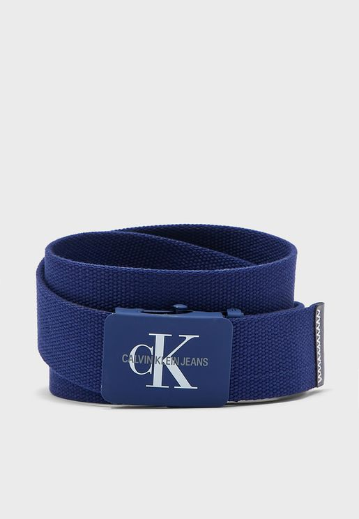 Monogram Webbing Belt