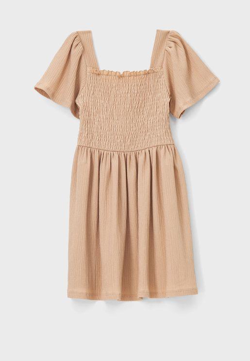 Kids Shirred Dress