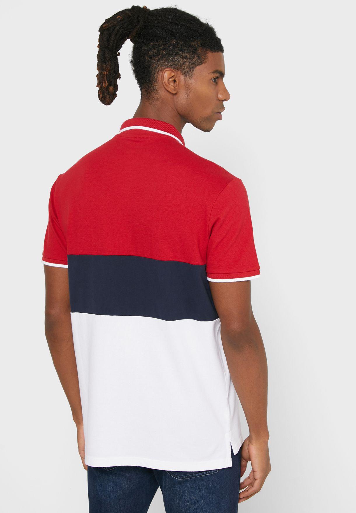 Colour Block Regular Fit Polo