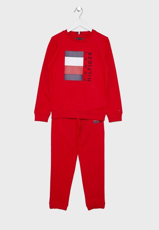 Teen Global Stripe Pullover Sets