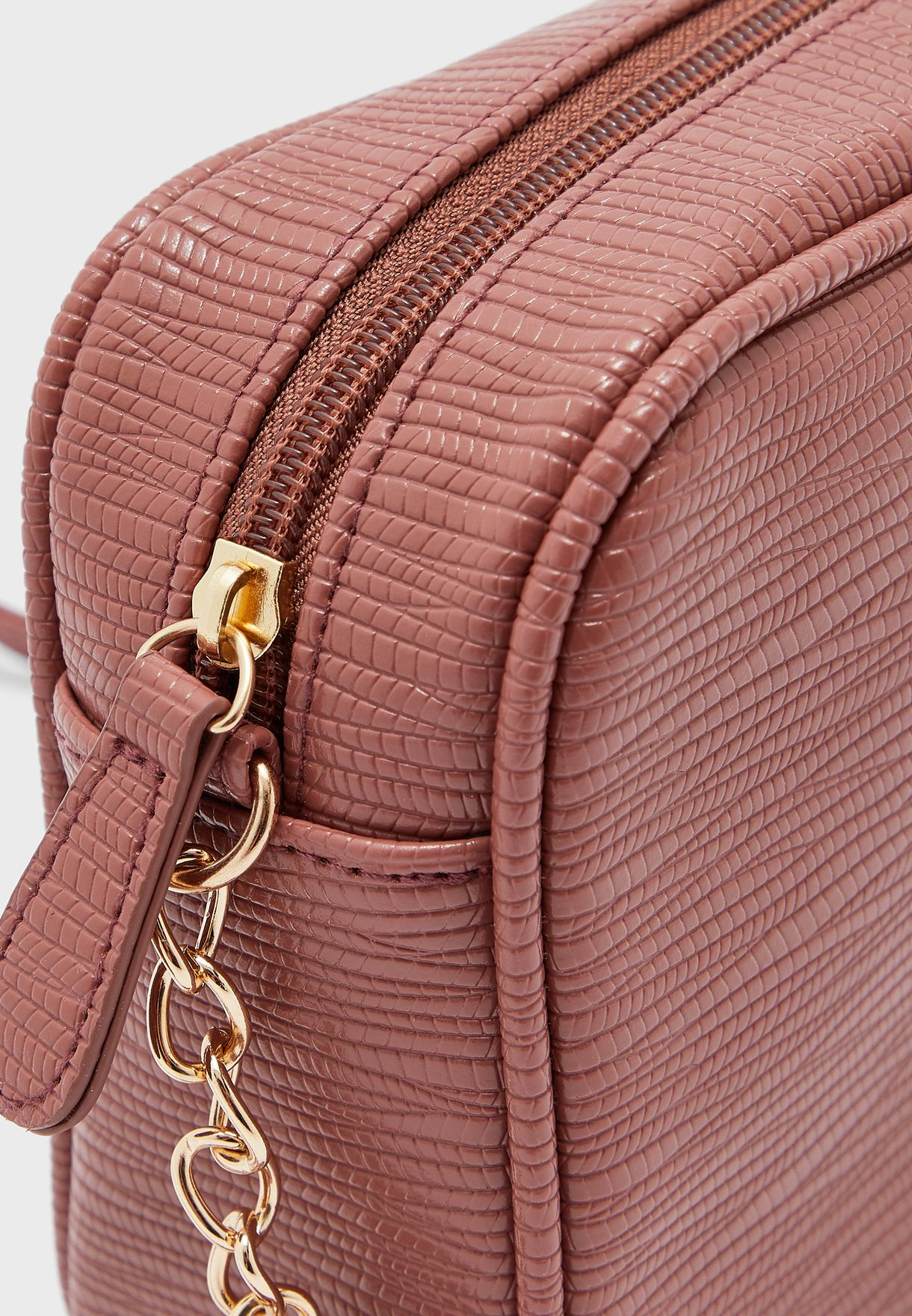 Lizard Texture Crossbody Camera Bag