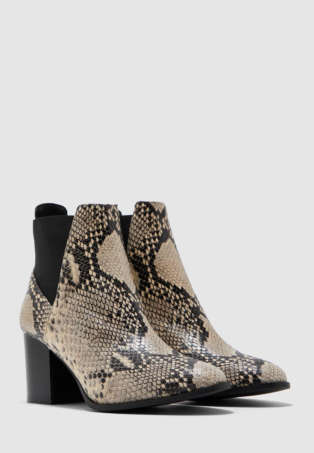 Toni Mid Boot -  Grey/Black