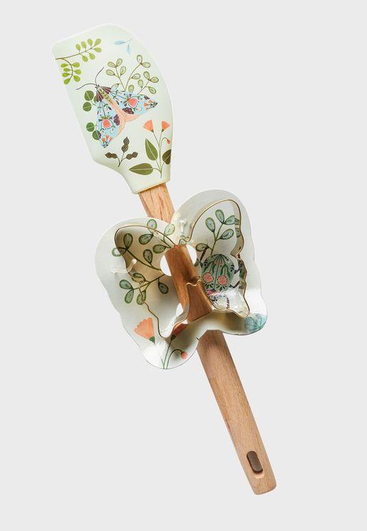 Flora Waycott Spatula & Cookie Cutter Set