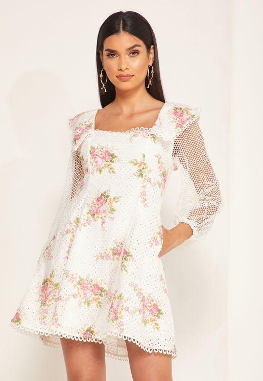 فستان سكاتر بطبعات