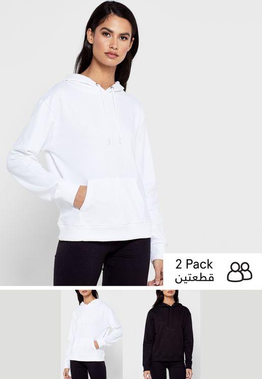 2 Pack Essential Pocket Hoodie