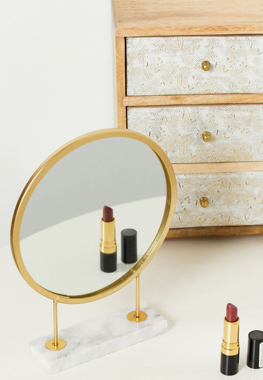 Gold Face Mirror