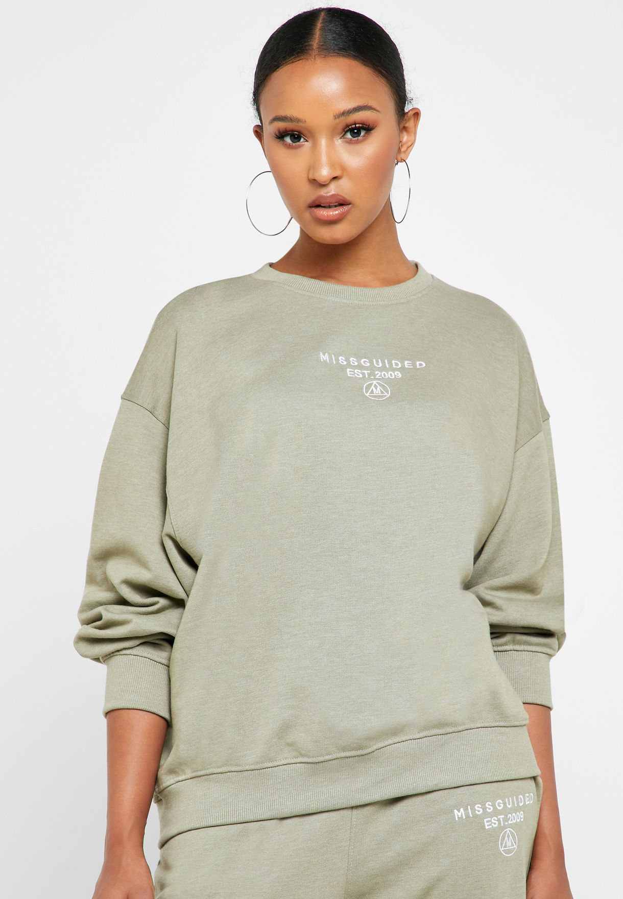 Slogan Oversized Sweater And Joggers Co Ord