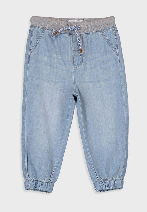 Infant Tie Waist Detail Jogg Jeans