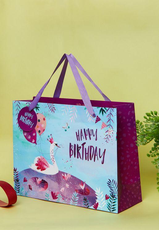 Swan Princess Shopper Gift Bag