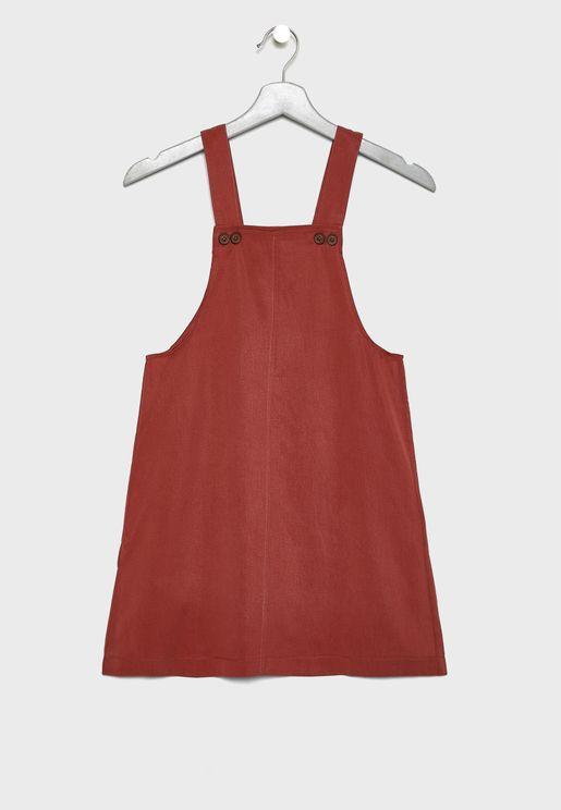 Kids Button Detail Dress